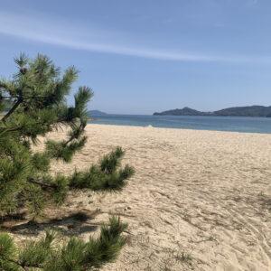 はしだて茶屋前の砂浜